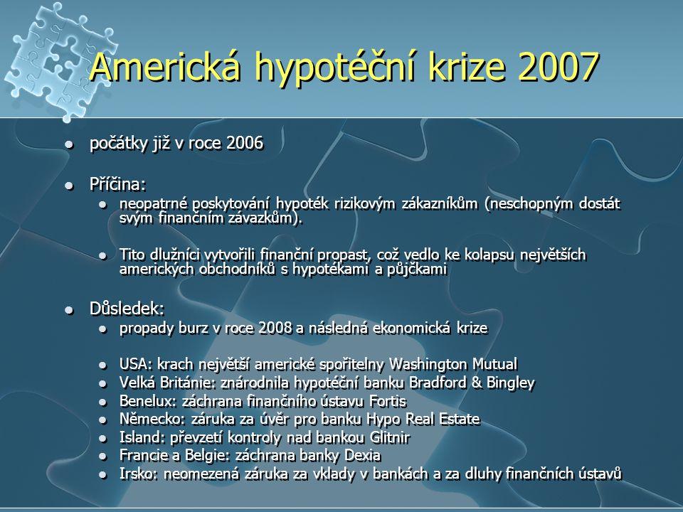 Americká hypotéční krize 2007