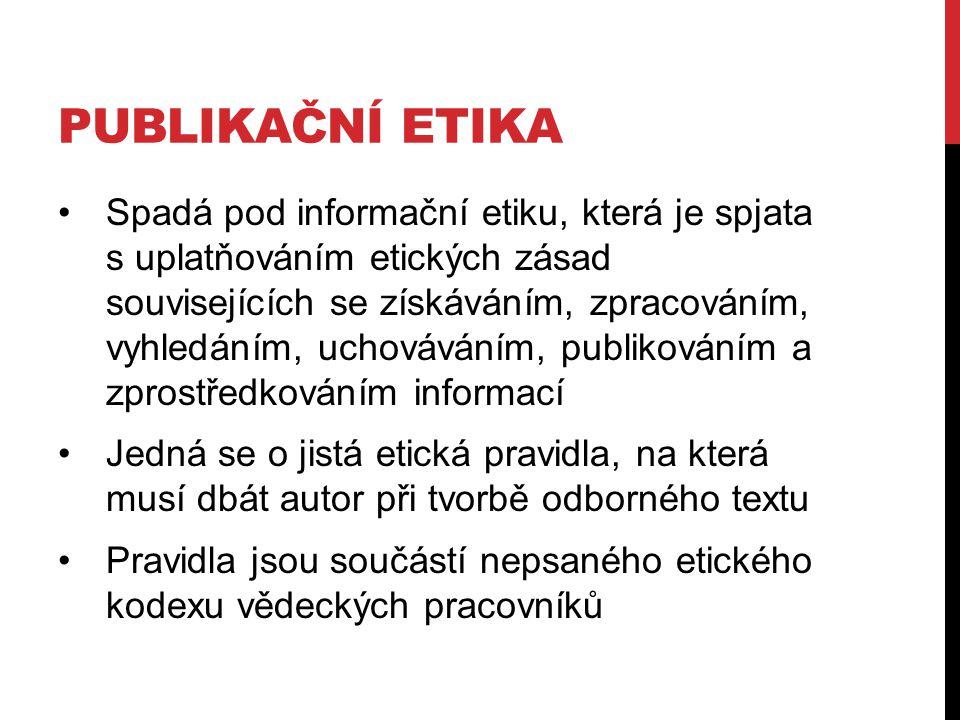 Publikační etika