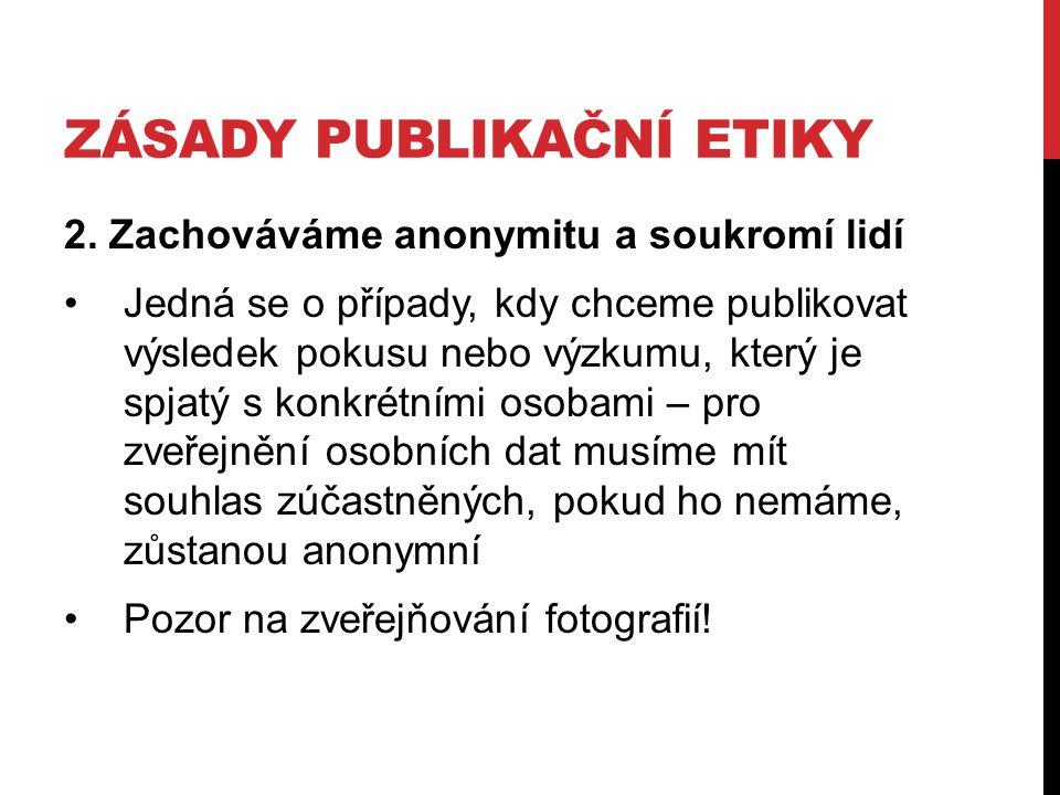 Zásady publikační etiky