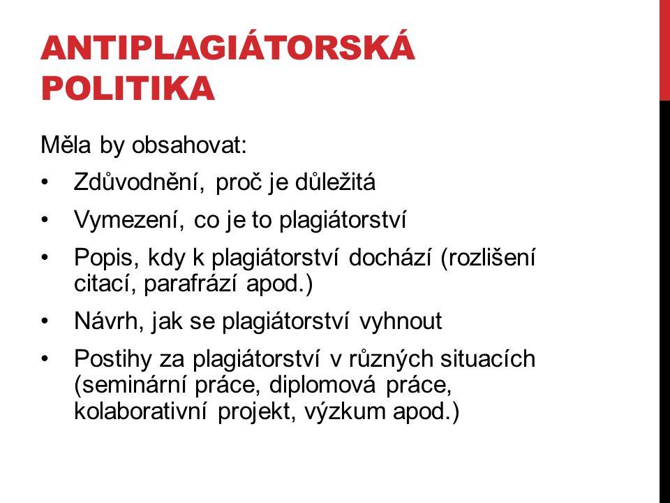 Antiplagiátorská politika