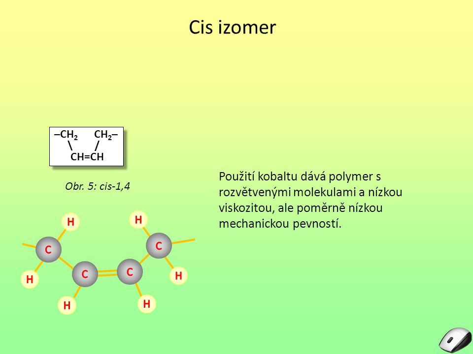 Cis izomer –CH2 CH2– \ / CH=CH.