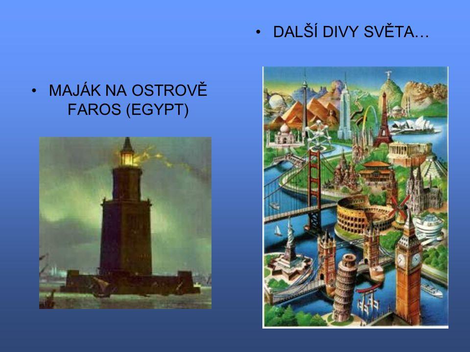 MAJÁK NA OSTROVĚ FAROS (EGYPT)