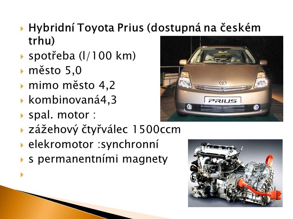Hybridní Toyota Prius (dostupná na českém trhu)