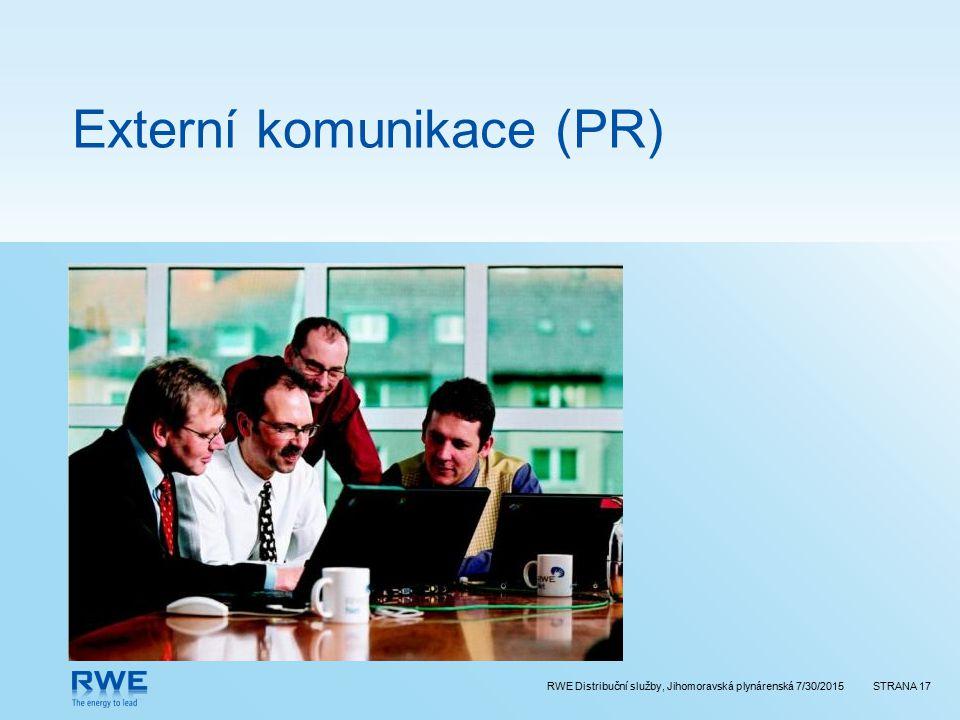 Externí komunikace (PR)