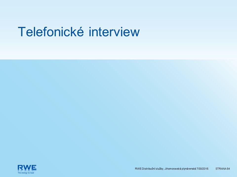 Telefonické interview