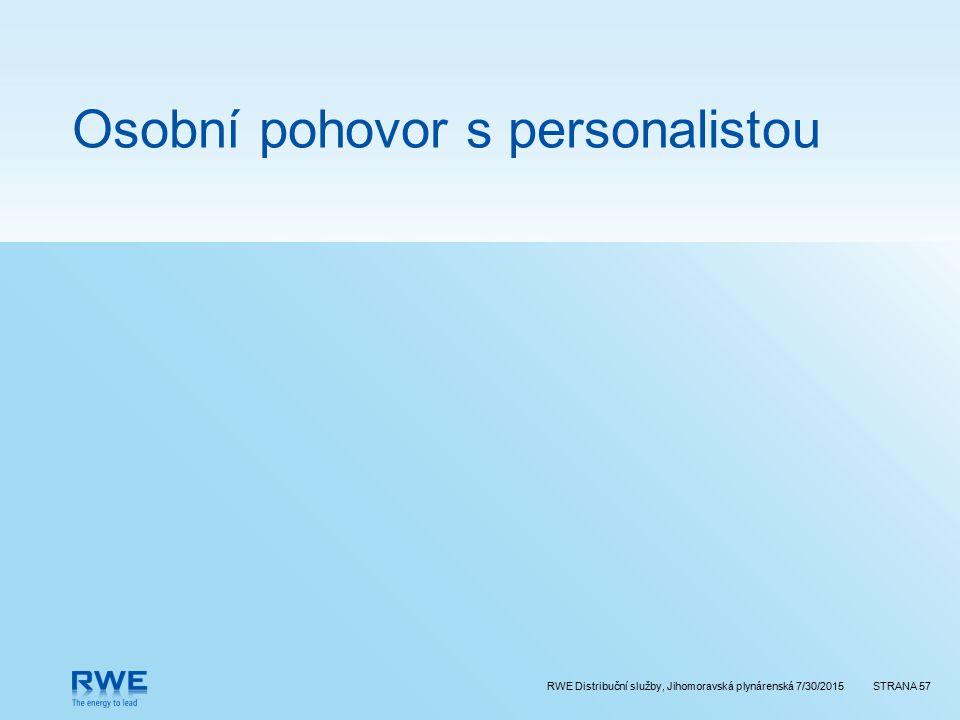 Osobní pohovor s personalistou