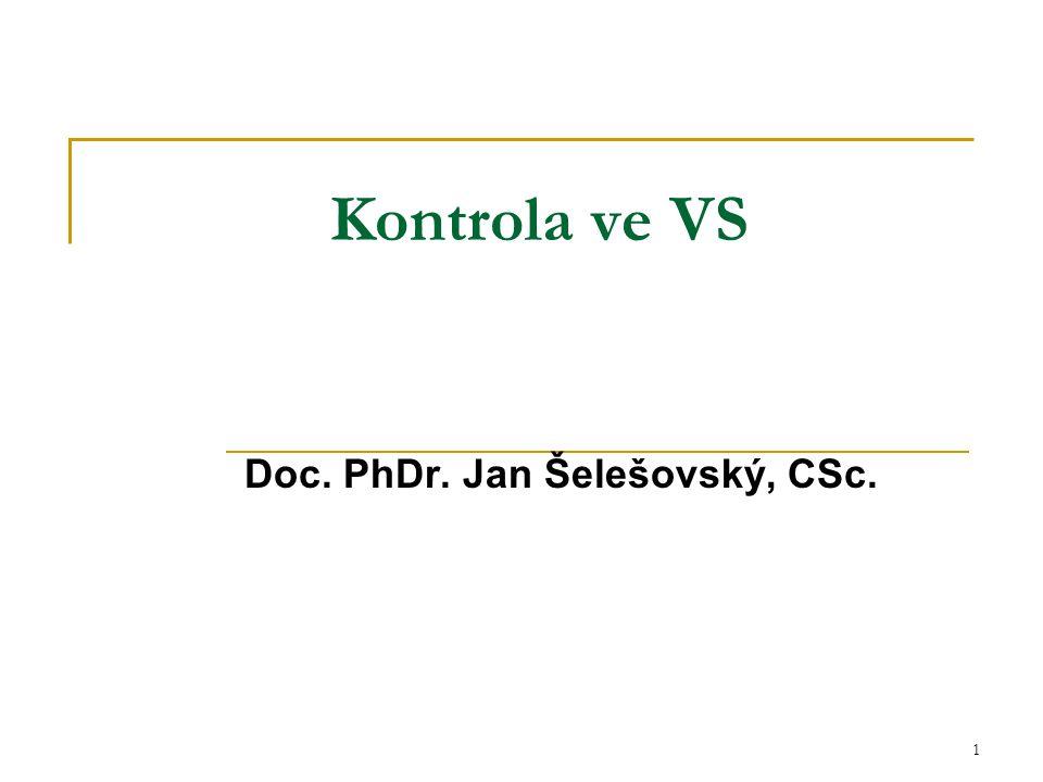 Doc. PhDr. Jan Šelešovský, CSc.
