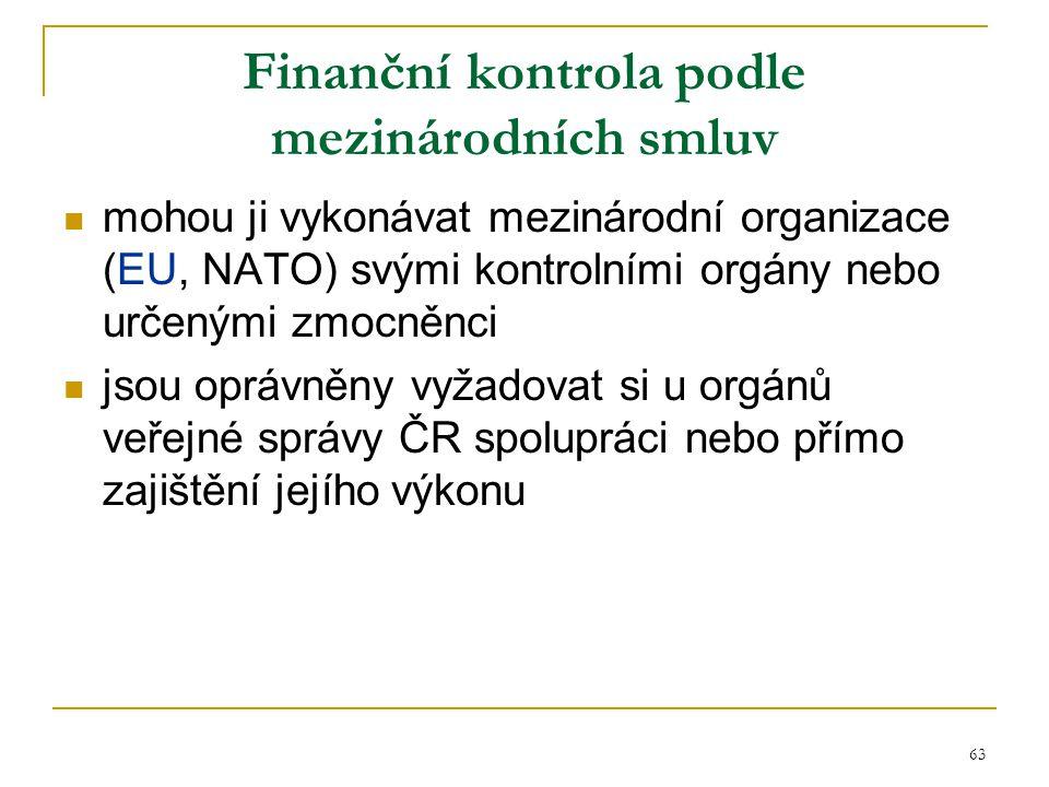 Finanční kontrola podle mezinárodních smluv