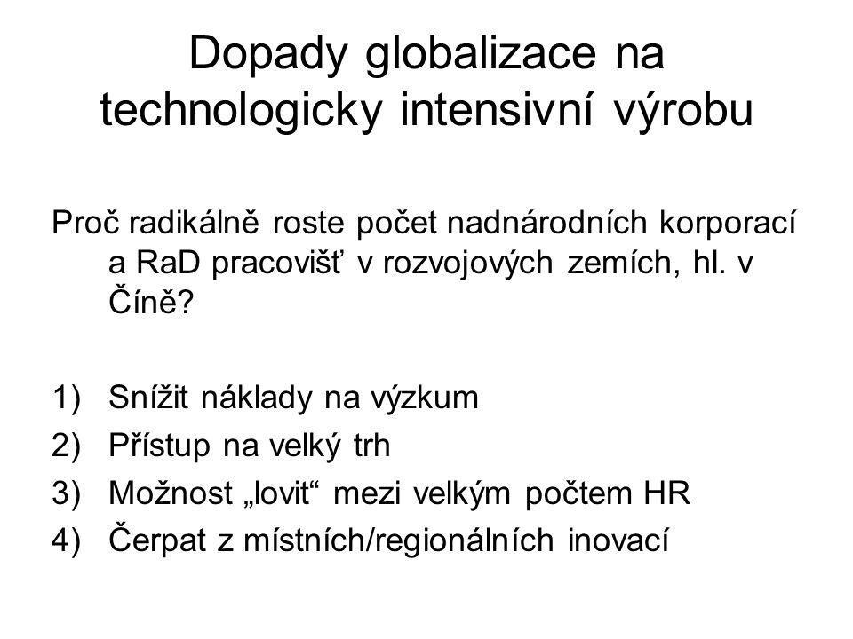 Dopady globalizace na technologicky intensivní výrobu