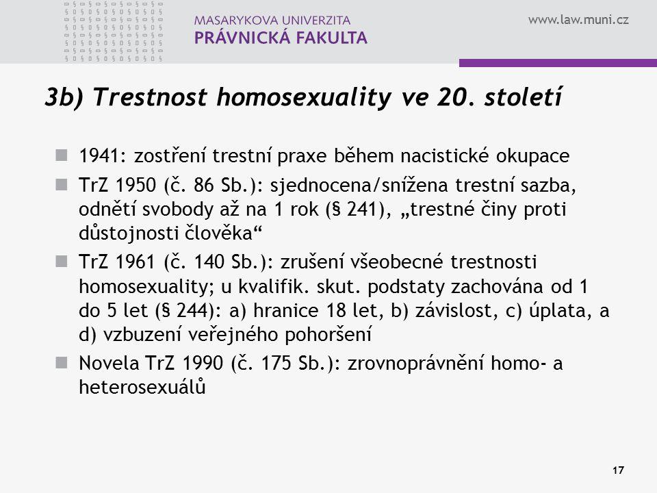 3b) Trestnost homosexuality ve 20. století