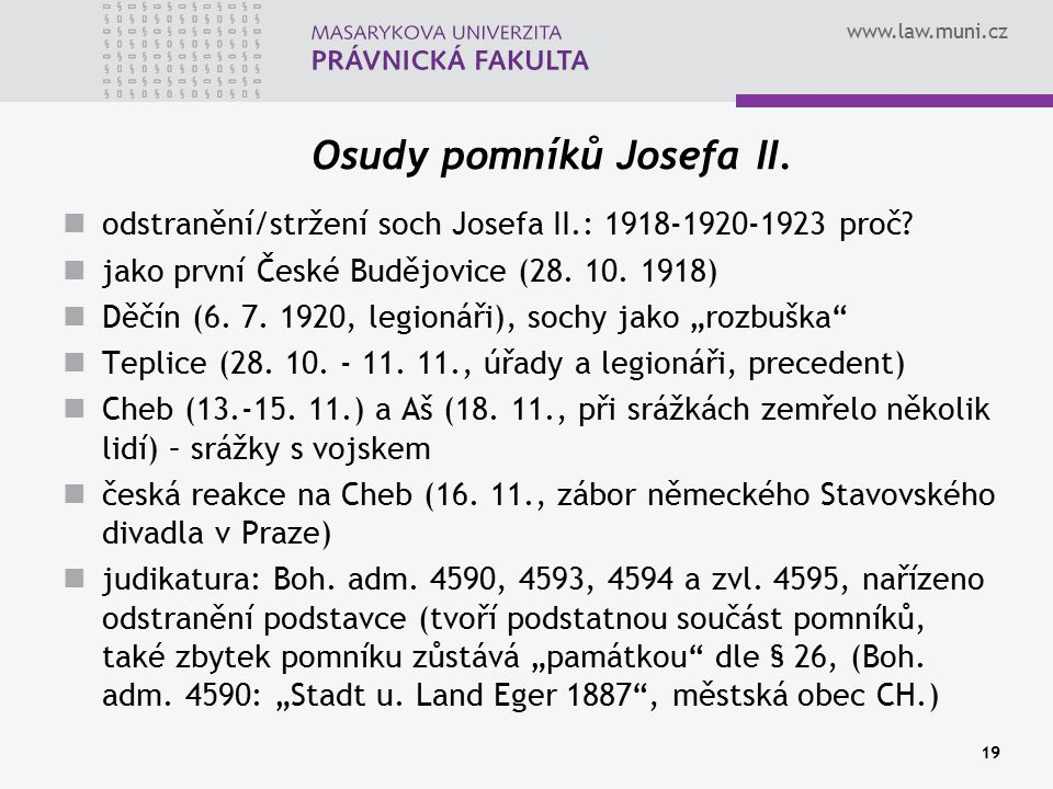 Osudy pomníků Josefa II.