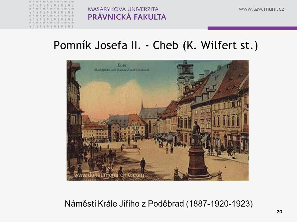 Pomník Josefa II. - Cheb (K. Wilfert st.)