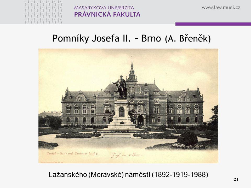 Pomníky Josefa II. – Brno (A. Břeněk)
