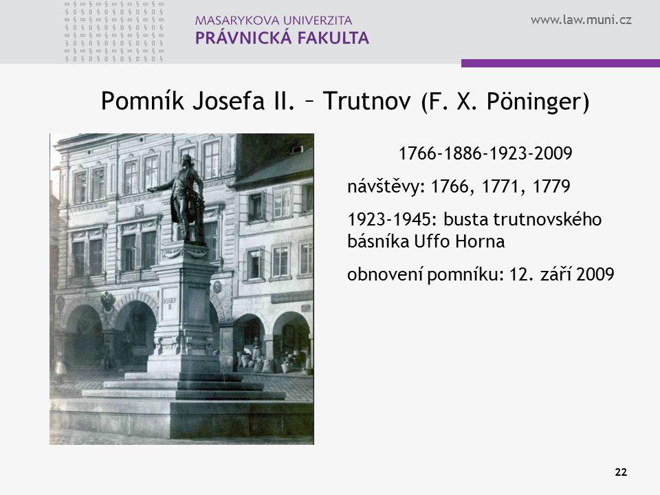 Pomník Josefa II. – Trutnov (F. X. Pöninger)