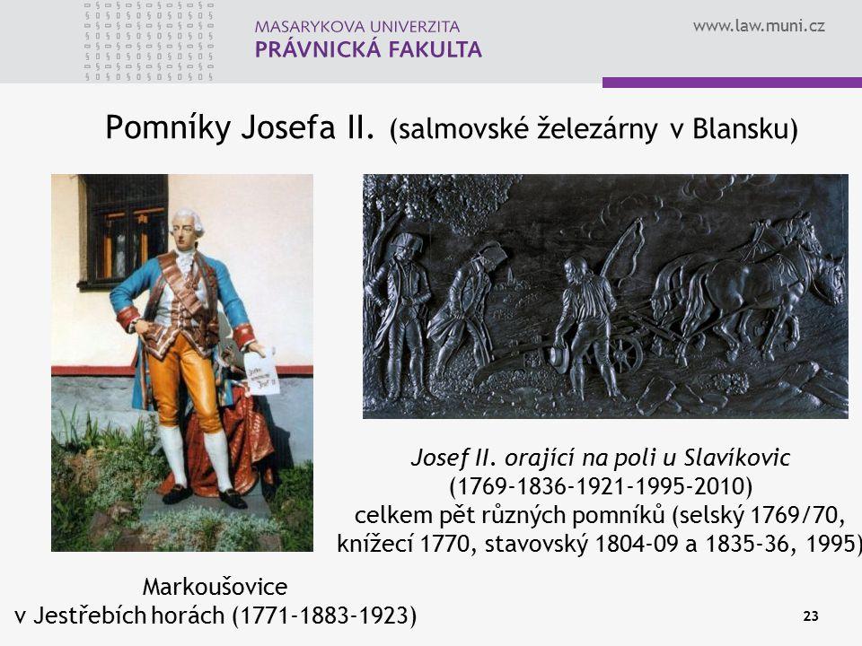Pomníky Josefa II. (salmovské železárny v Blansku)