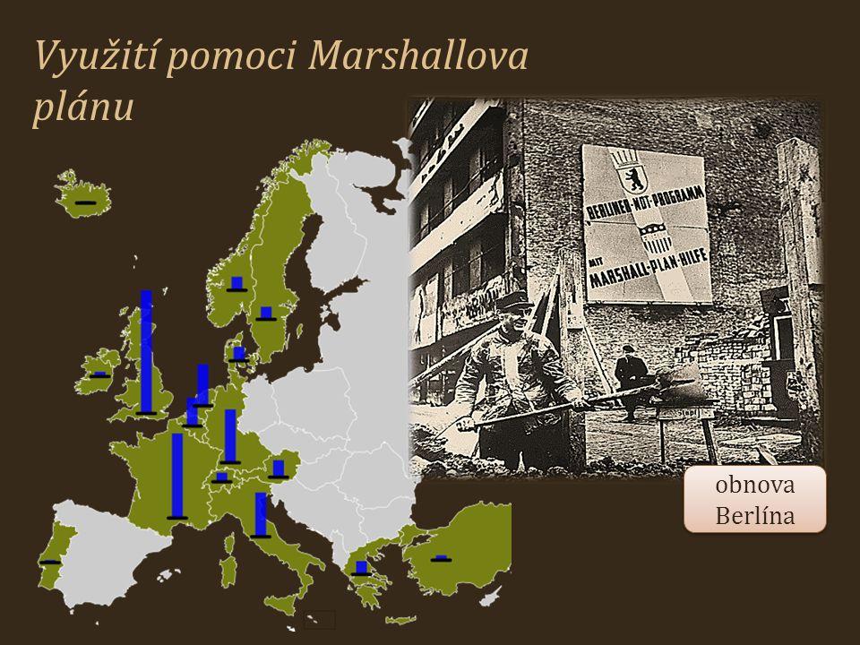 Využití pomoci Marshallova plánu