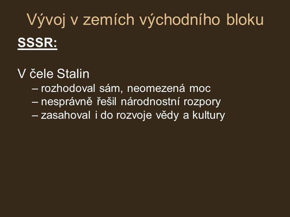 Vývoj v zemích východního bloku
