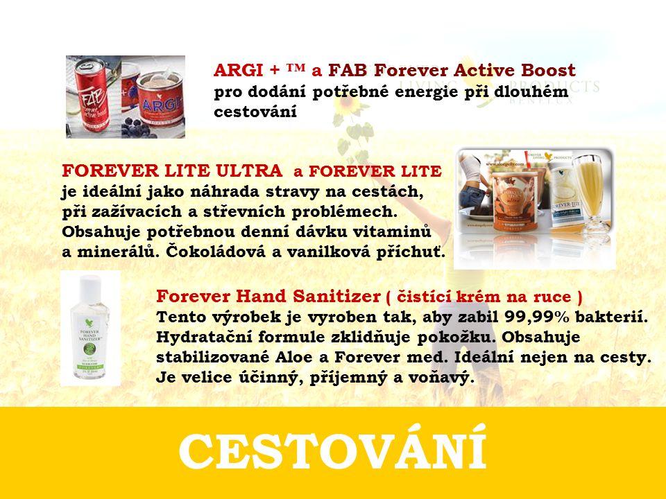 ARGI + ™ a FAB Forever Active Boost pro dodání potřebné energie při dlouhém cestování