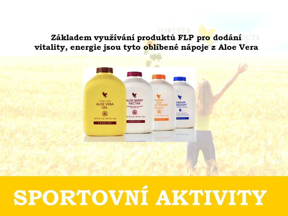 Základem využívání produktů FLP pro dodání vitality, energie jsou tyto oblíbené nápoje z Aloe Vera