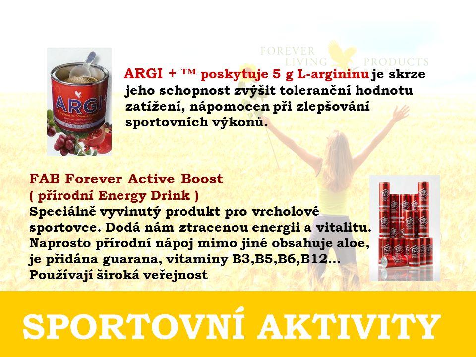 SPORTOVNÍ AKTIVITY FAB Forever Active Boost ( přírodní Energy Drink )