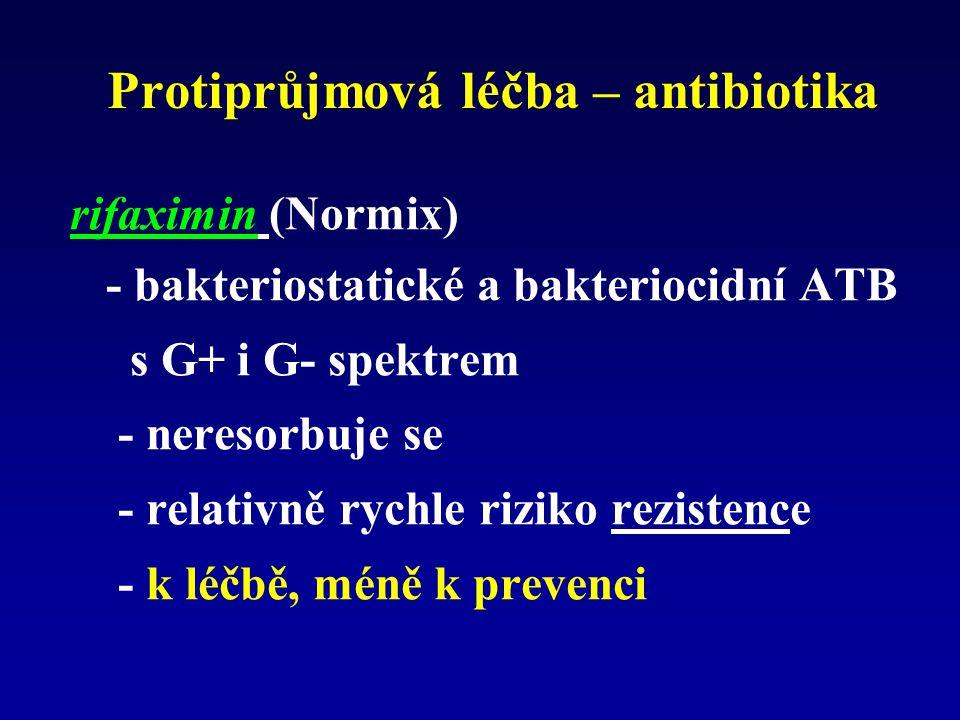 Protiprůjmová léčba – antibiotika