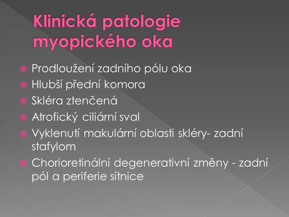 Klinická patologie myopického oka