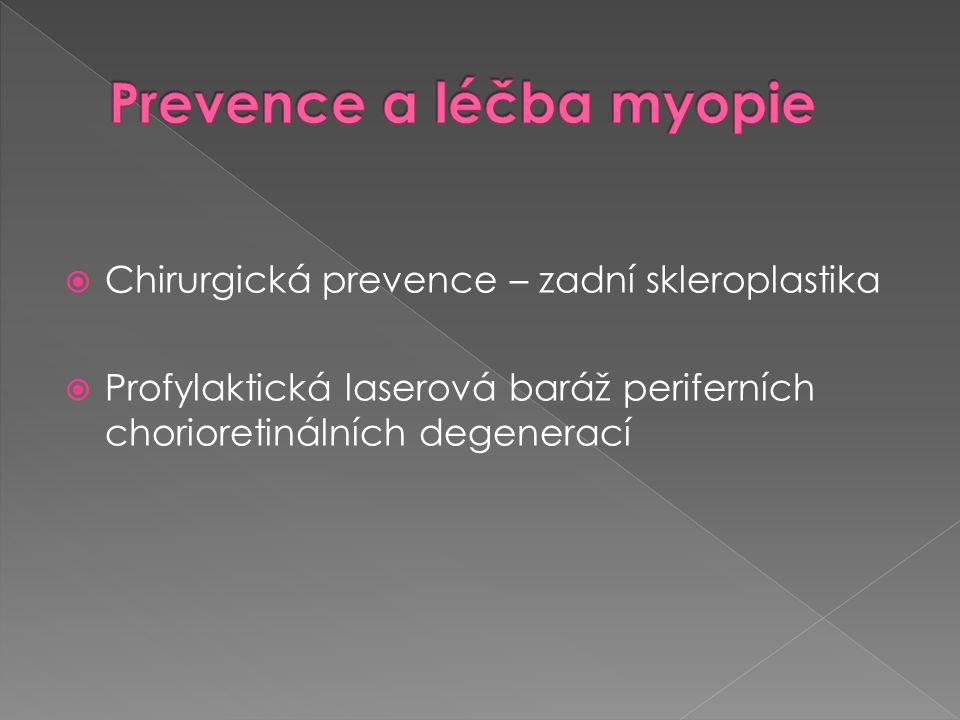 Prevence a léčba myopie