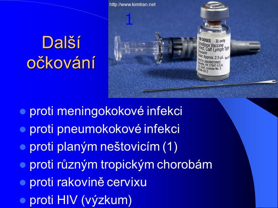 Další očkování 1 proti meningokokové infekci