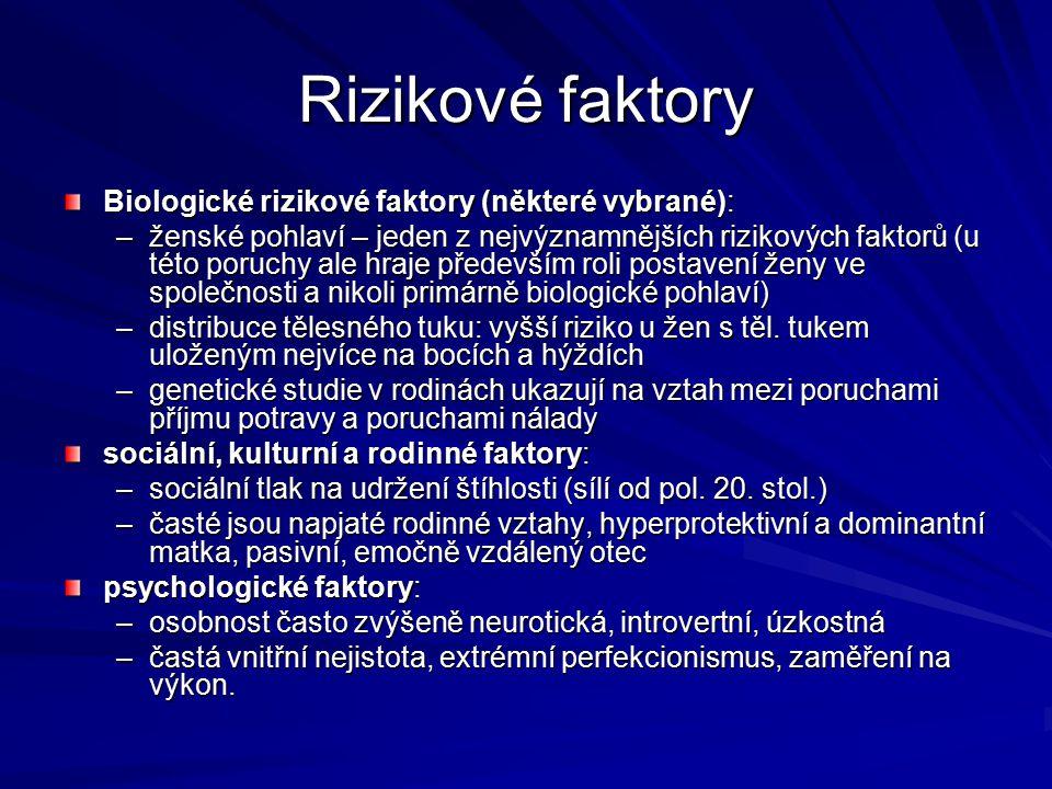 Rizikové faktory Biologické rizikové faktory (některé vybrané):