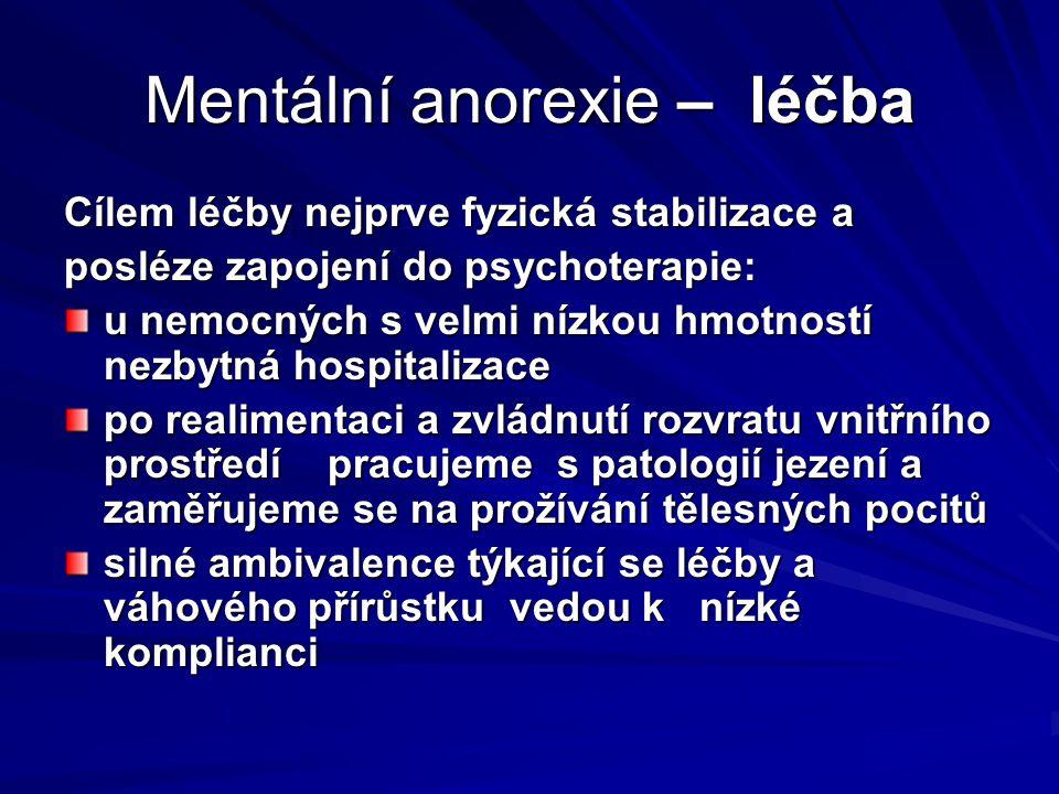 Mentální anorexie – léčba