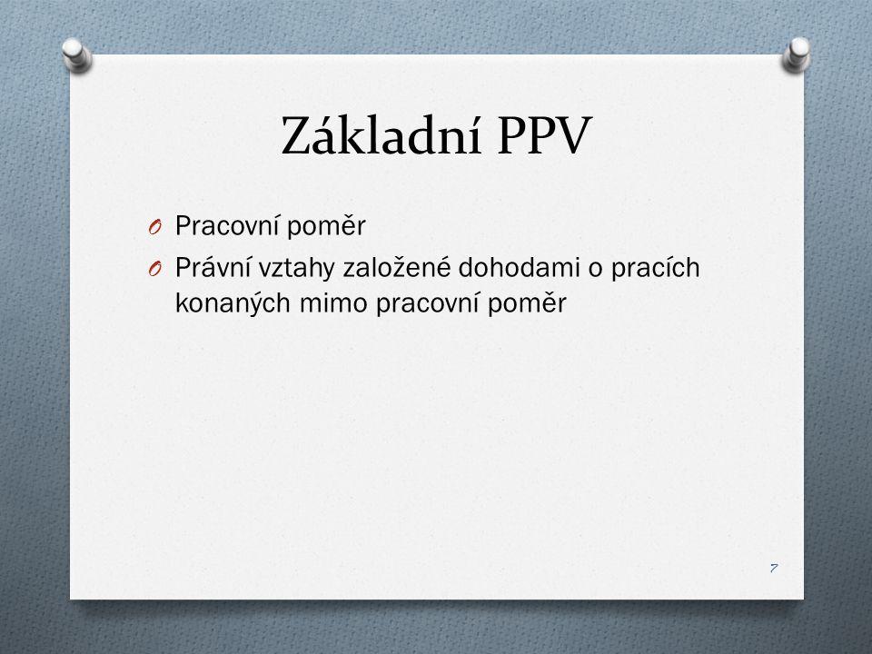 Základní PPV Pracovní poměr