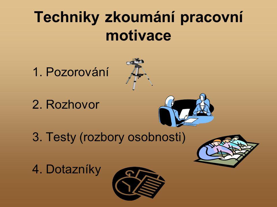 Techniky zkoumání pracovní motivace