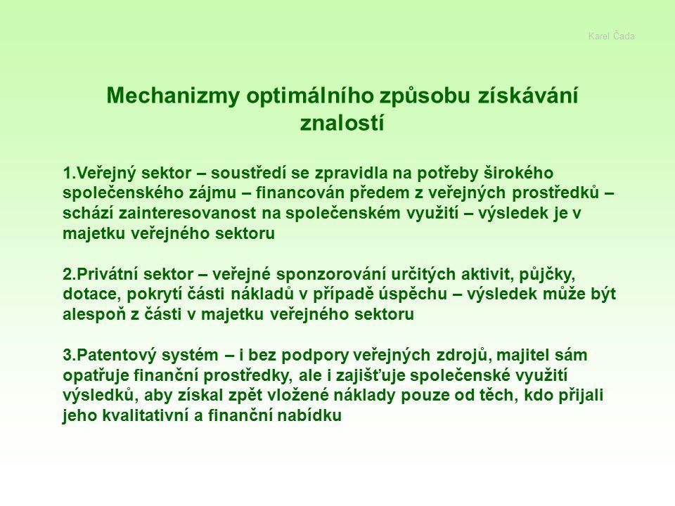 Mechanizmy optimálního způsobu získávání znalostí