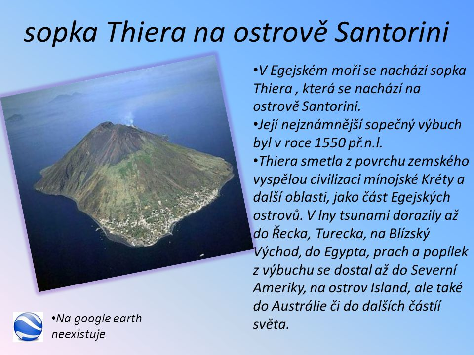 sopka Thiera na ostrově Santorini