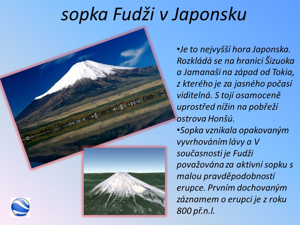 sopka Fudži v Japonsku