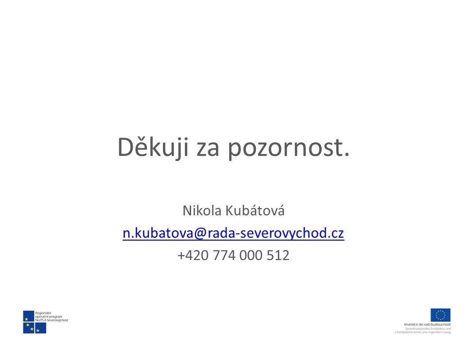Nikola Kubátová n.kubatova@rada-severovychod.cz +420 774 000 512