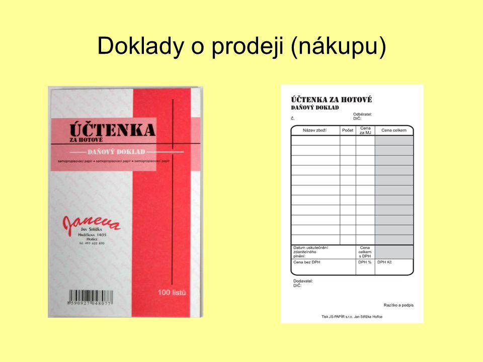 Doklady o prodeji (nákupu)