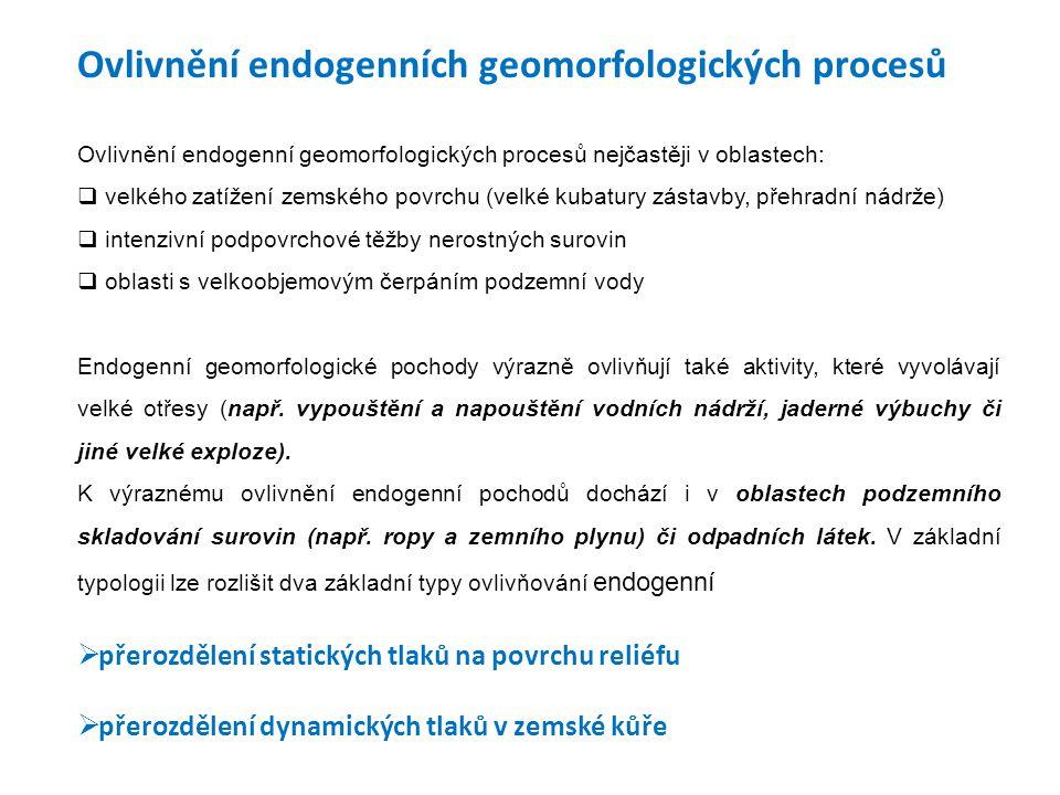 Ovlivnění endogenních geomorfologických procesů