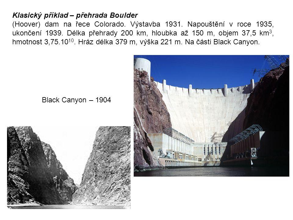 Klasický příklad – přehrada Boulder