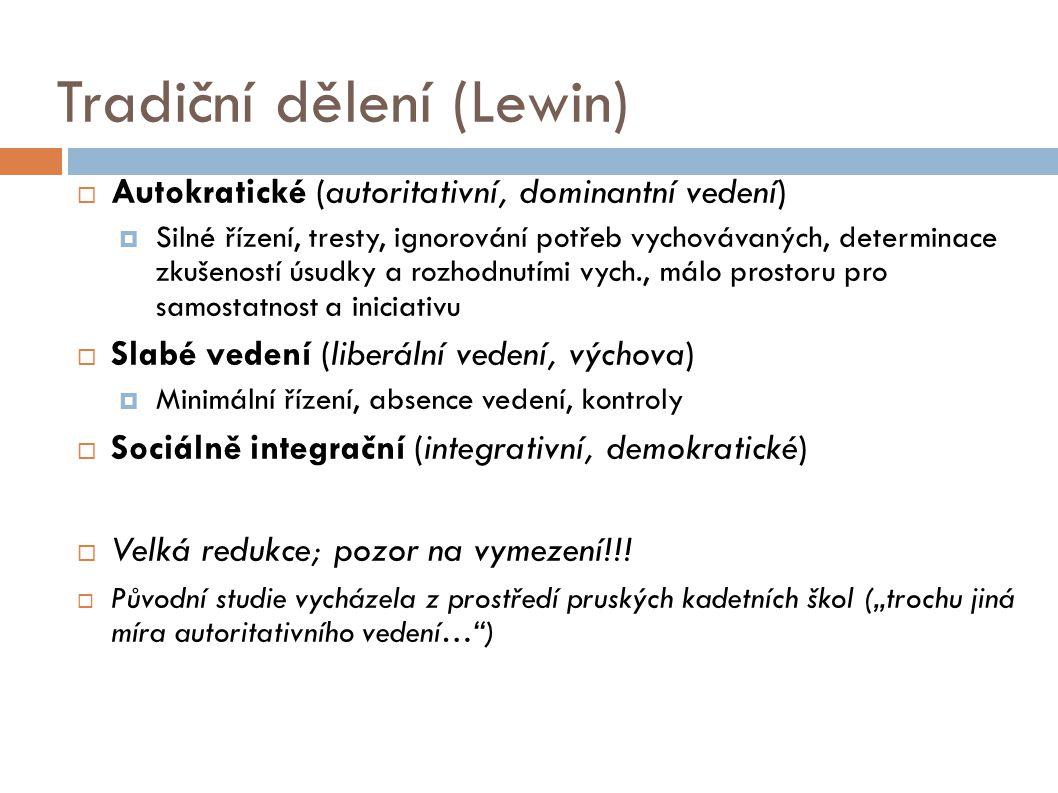 Tradiční dělení (Lewin)