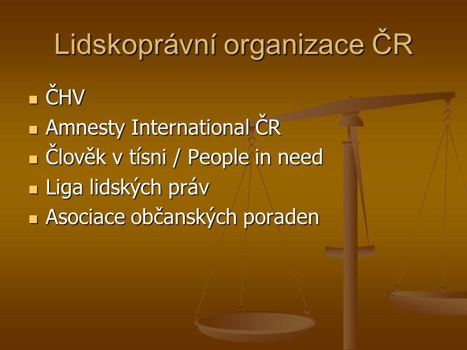 Lidskoprávní organizace ČR