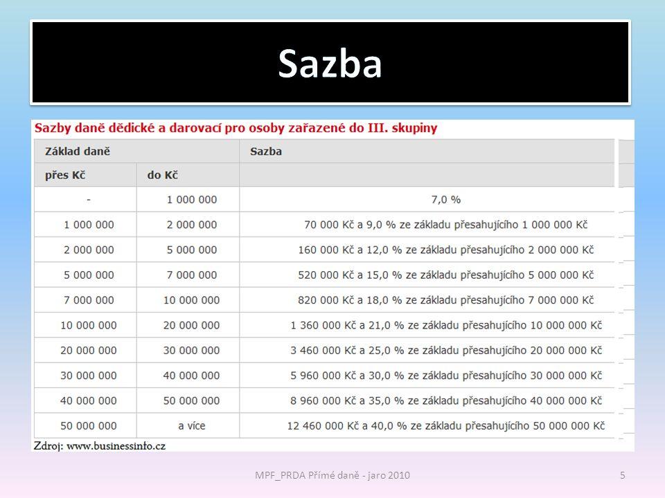 MPF_PRDA Přímé daně - jaro 2010