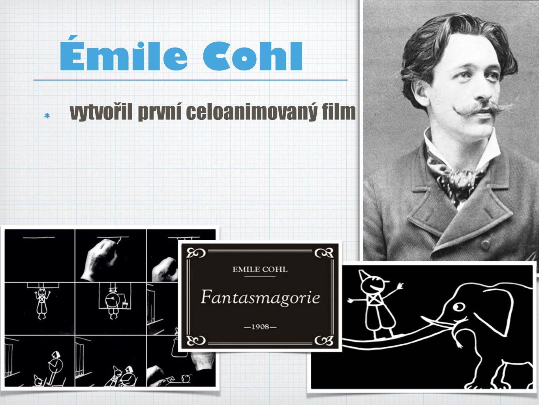 Émile Cohl vytvořil první celoanimovaný film