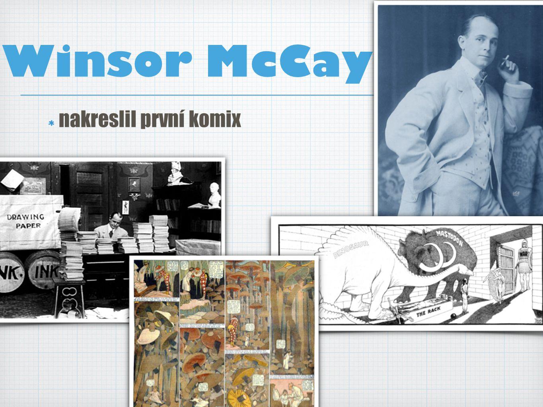 Winsor McCay nakreslil první komix