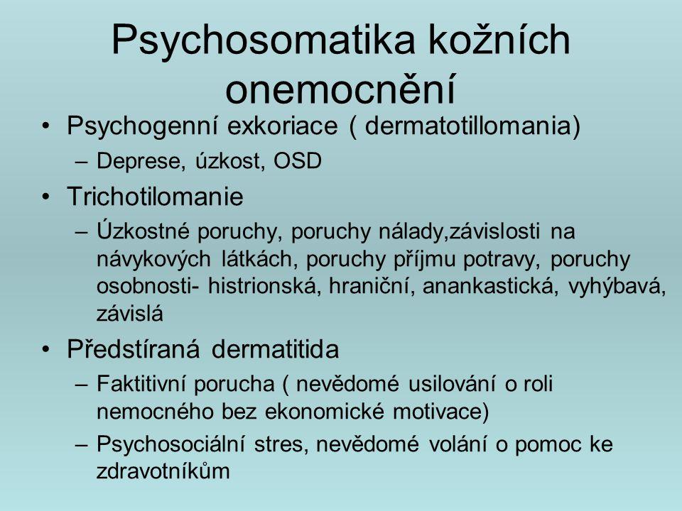 Psychosomatika kožních onemocnění