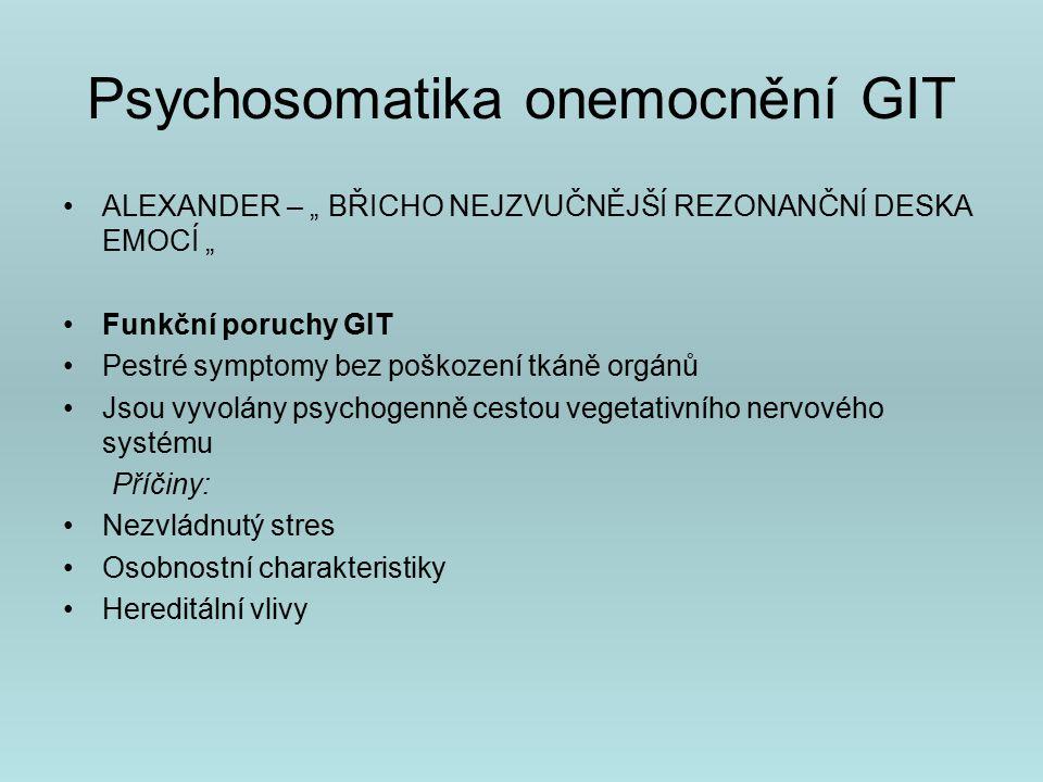 Psychosomatika onemocnění GIT