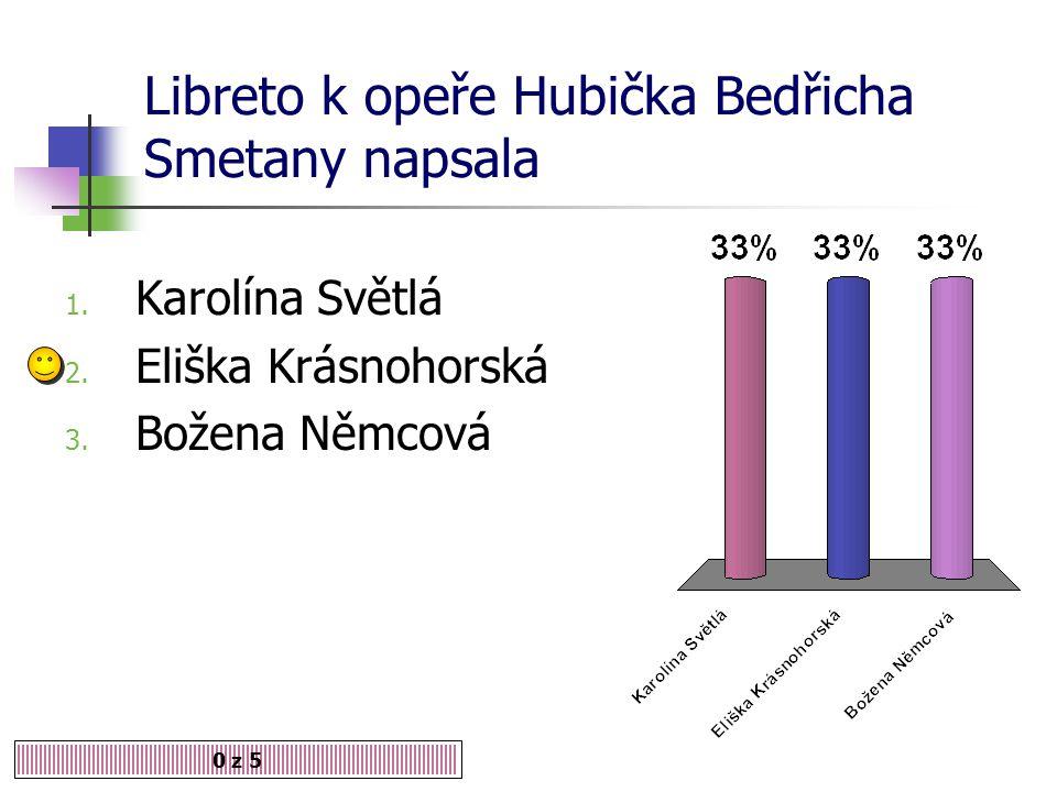 Libreto k opeře Hubička Bedřicha Smetany napsala