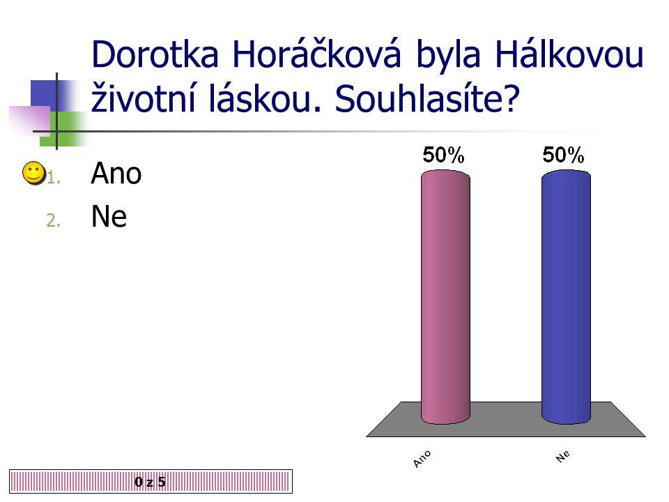 Dorotka Horáčková byla Hálkovou životní láskou. Souhlasíte