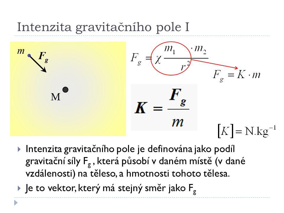 Intenzita gravitačního pole I