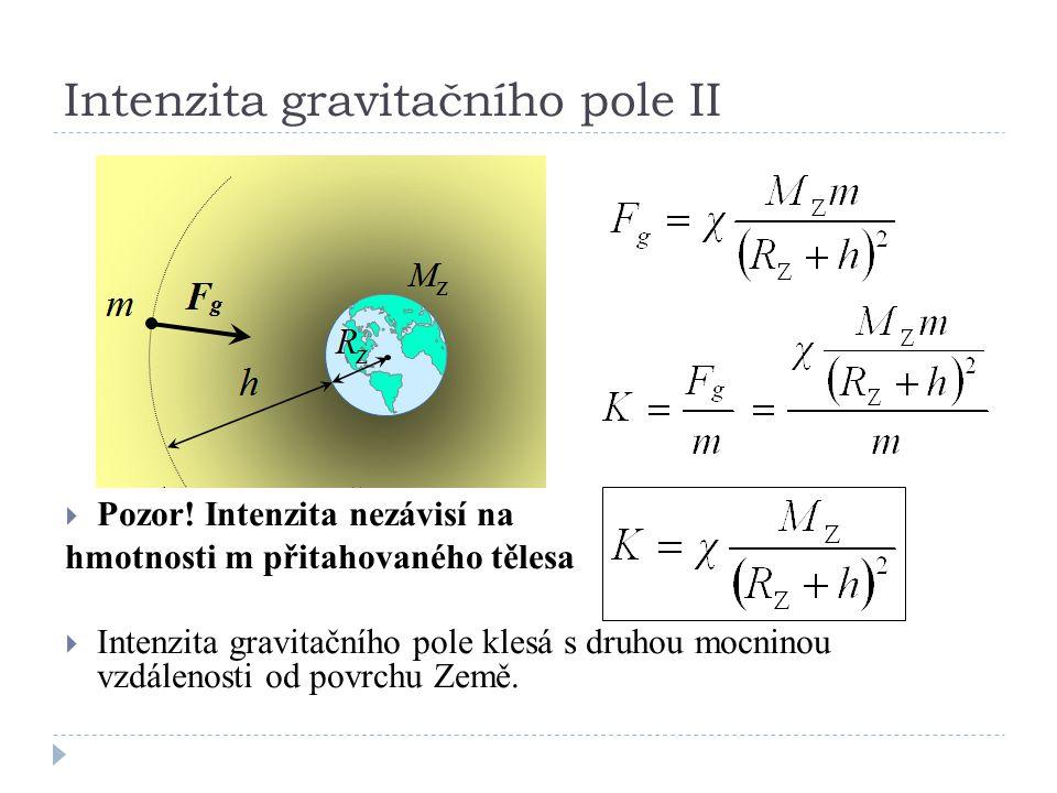 Intenzita gravitačního pole II